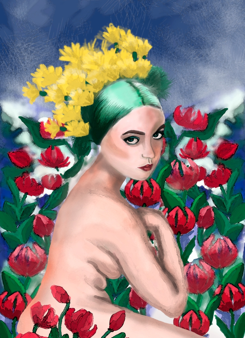 girl flowers